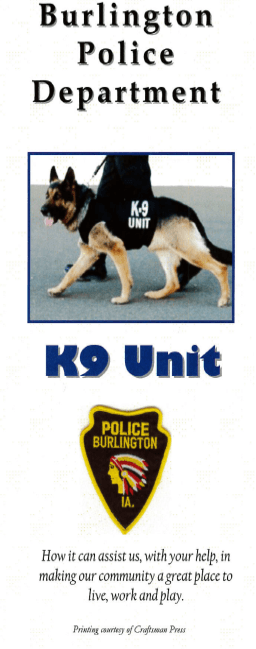 Burlington Police Department K-9 Unit