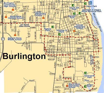 map of burlington iowa City Parks Burlington Ia map of burlington iowa