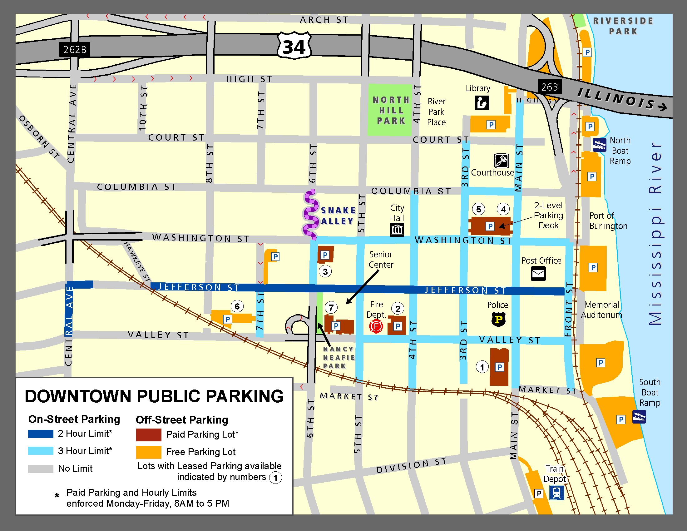 Downtown Parking Map (2019 update)