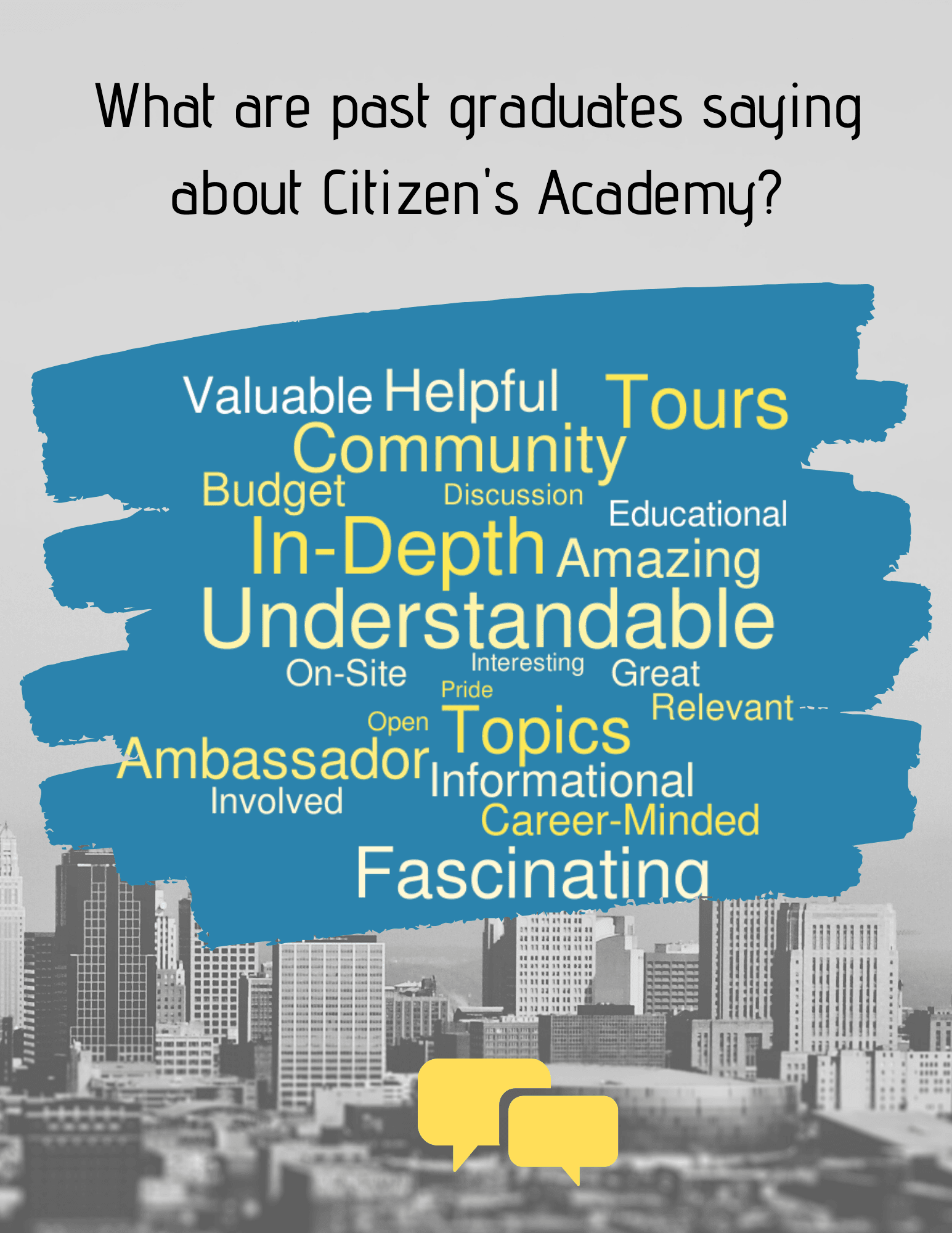 Citizens Academy Word Cloud