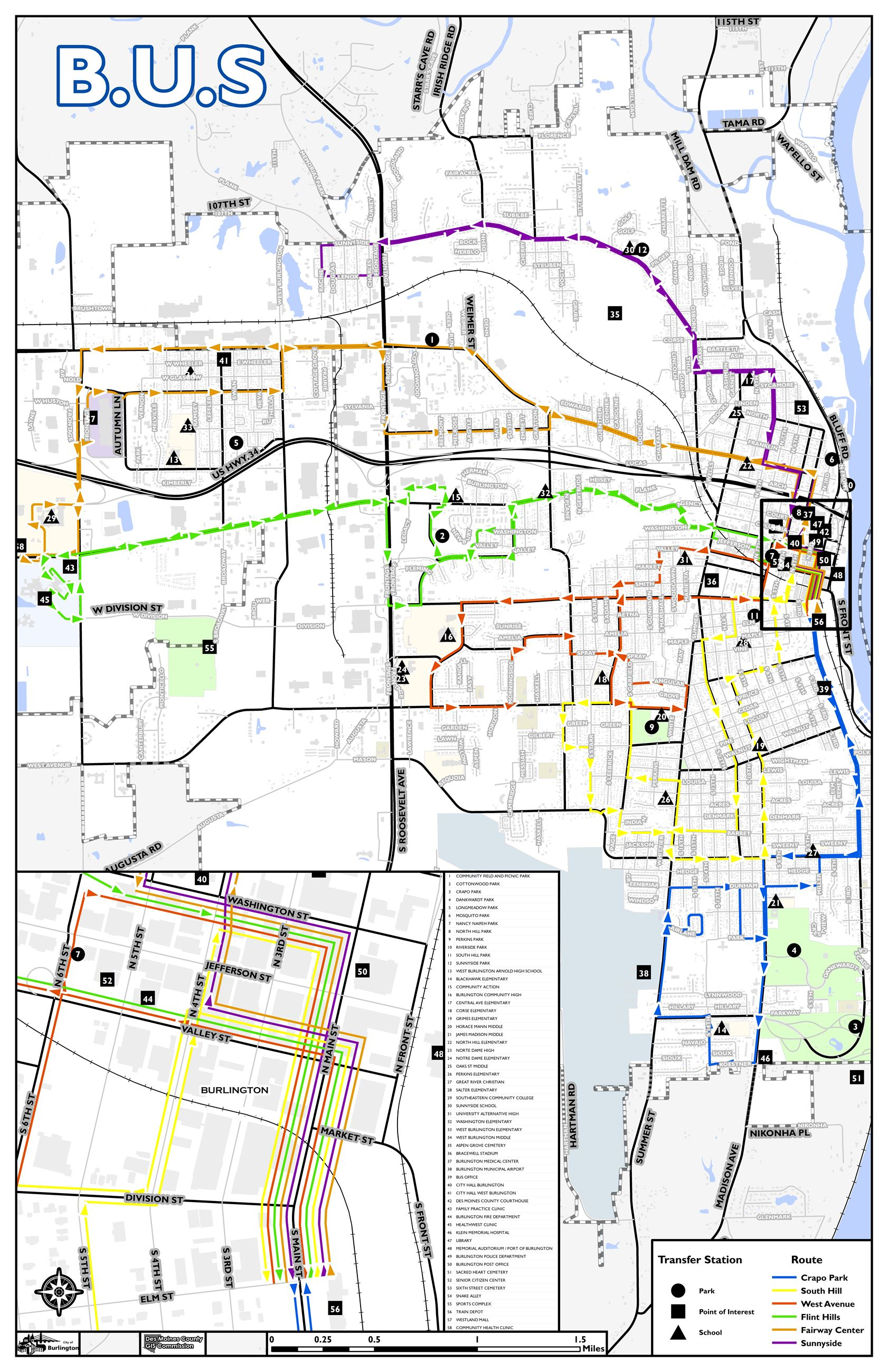 Bus Brochure Route Maps