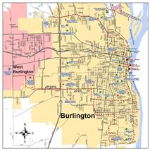 City Maps Burlington IA - Burlington map